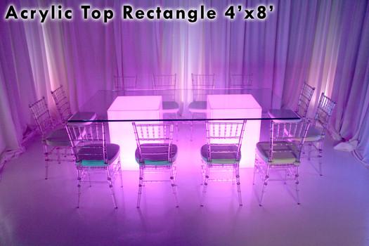 4x8 Acrylic Rectangle Top