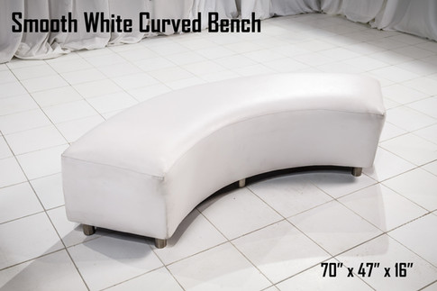 Smooth White Curved Bench