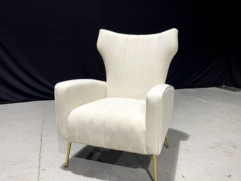Ivory Wingback Chair