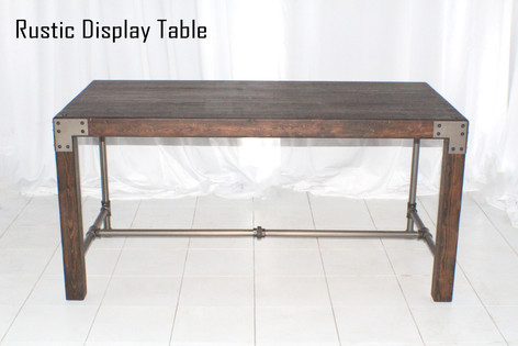 Rustic Display Table