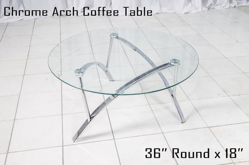 Chrome Arch Coffee Table copy