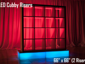 LED Cubby Risers