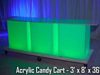 LED Acrylic Candy Cart