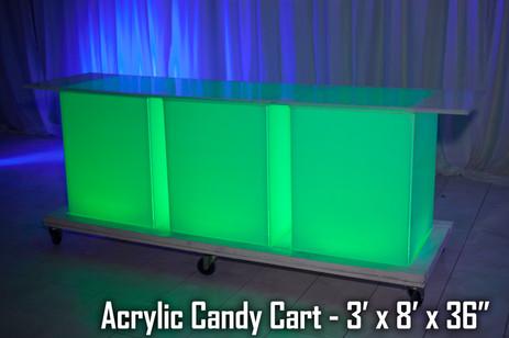 Acrylic Candy Cart