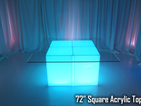 """72"""" Square Acrylic Top - Clear"""