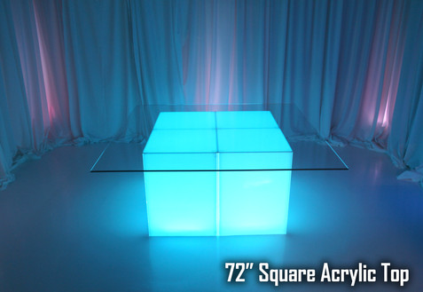 72 Square Acrylic Top