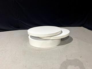 White Tri Level Coffee Table