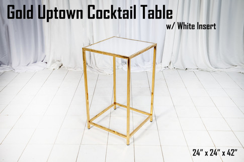 Gold Uptown Cocktail Table White Insert