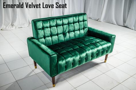 Emerald Velvet Love Seat