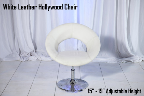 White Leather Hollywood Chair