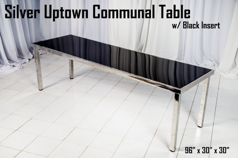 Silver Uptown Communal Table Black Insert