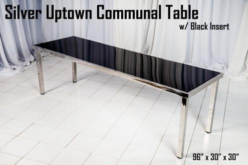 Silver Uptown Communal Table Black Insert