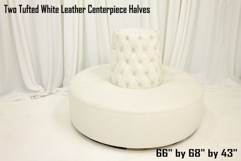 Tufted White Leather Centerpiece Halves
