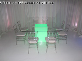 """60"""" Square Acrylic Top - Clear"""