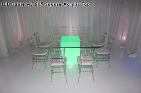 60 Square Acrylic Top