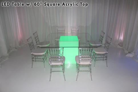 60 Square Acrylic Top