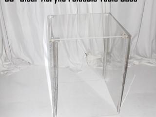 """Clear Acrylic Foldable Table Base - 30"""""""