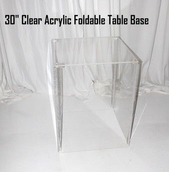 30 Clear Acrylic Foldable Table Base