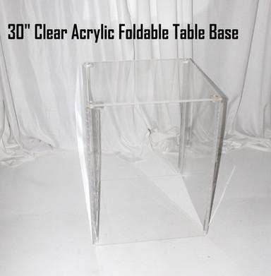30 Clear Acrylic Foldable Table Base