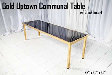 Gold Uptown Communal Table Black Insert