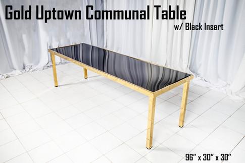 Gold Uptown Communal Table Black Insert