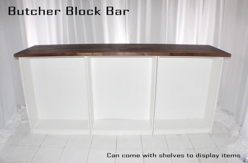 Butcher Block Bar