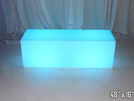 "LED Rectangular Bench -48"""