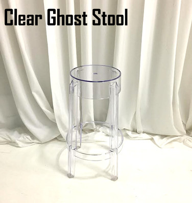 Clear Ghost Stool