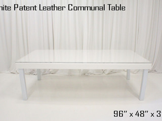 White Patent Leather Dinner Table