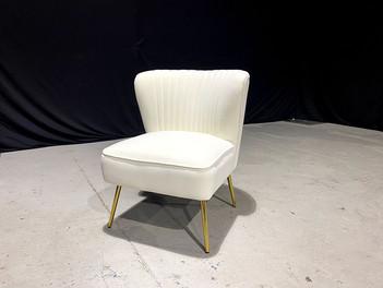 Allesandro Ivory Velvet Chair