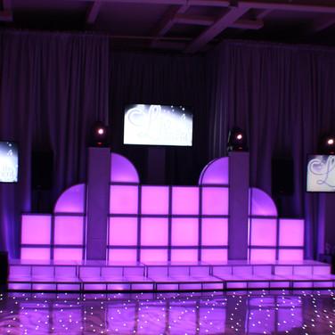 Custom LED DJ Booth