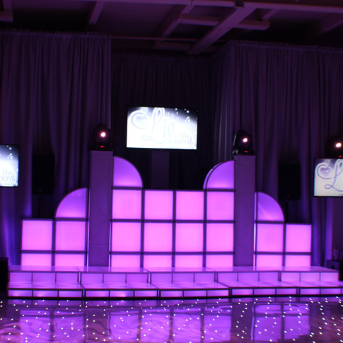 Custom LED DJ Booth
