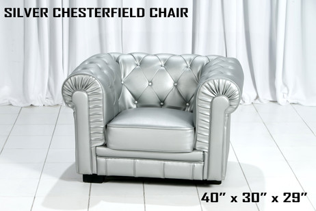 Silver Chesterfield Chair