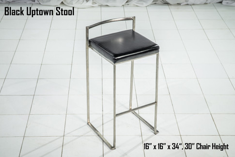 Black Uptown Stool