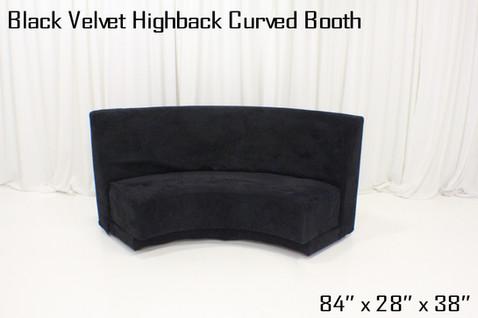 Black Velvet Highback Curved Booth