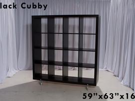Black Cubby Storage