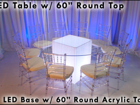 """60"""" Round Acrylic Top - Clear"""