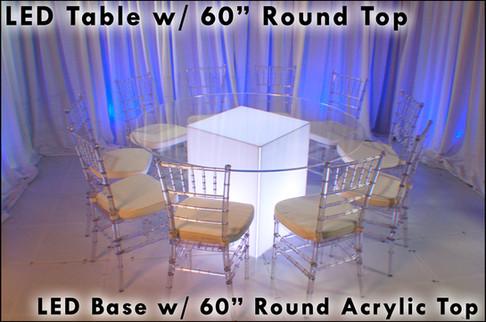 60 Round Acrylic Top