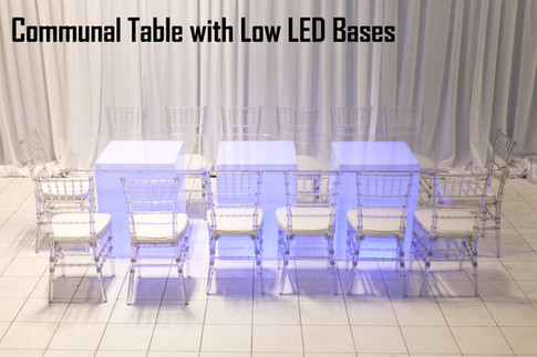 Communal Table with Low LED Bases