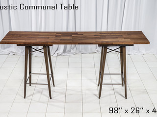 Rustic Communal Table