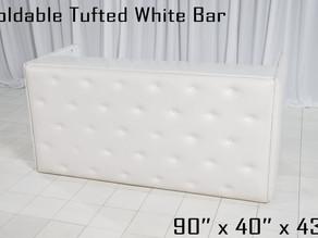 White Tufted Foldable Bar