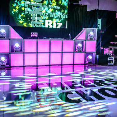 LED Block DJ Booth