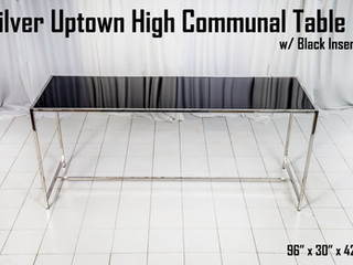Silver Uptown High Communal Table Black Insert.jpg