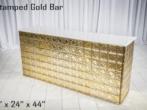 Gold Stamped Metal Bar