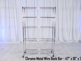 Chrome Metal Wire Back Bar