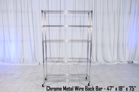 Chrome Metal Wire Back Bar
