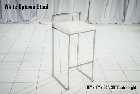 White Uptown Stool