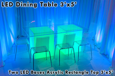 3x5 Rectangle Acrylic Top