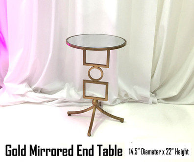 Gold Mirrored End Table