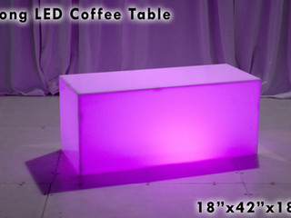 "Acrylic LED Coffee Table - 42"""